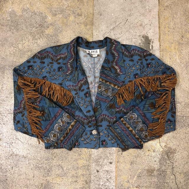 Vintage Fringe Jacket ¥8,200+tax