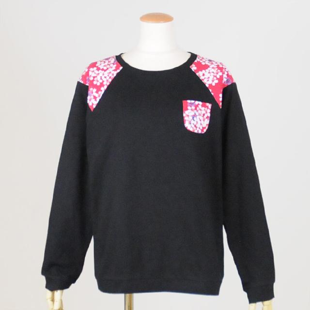 ミニポケット付きTシャツ/GGD25-T313 BK/M