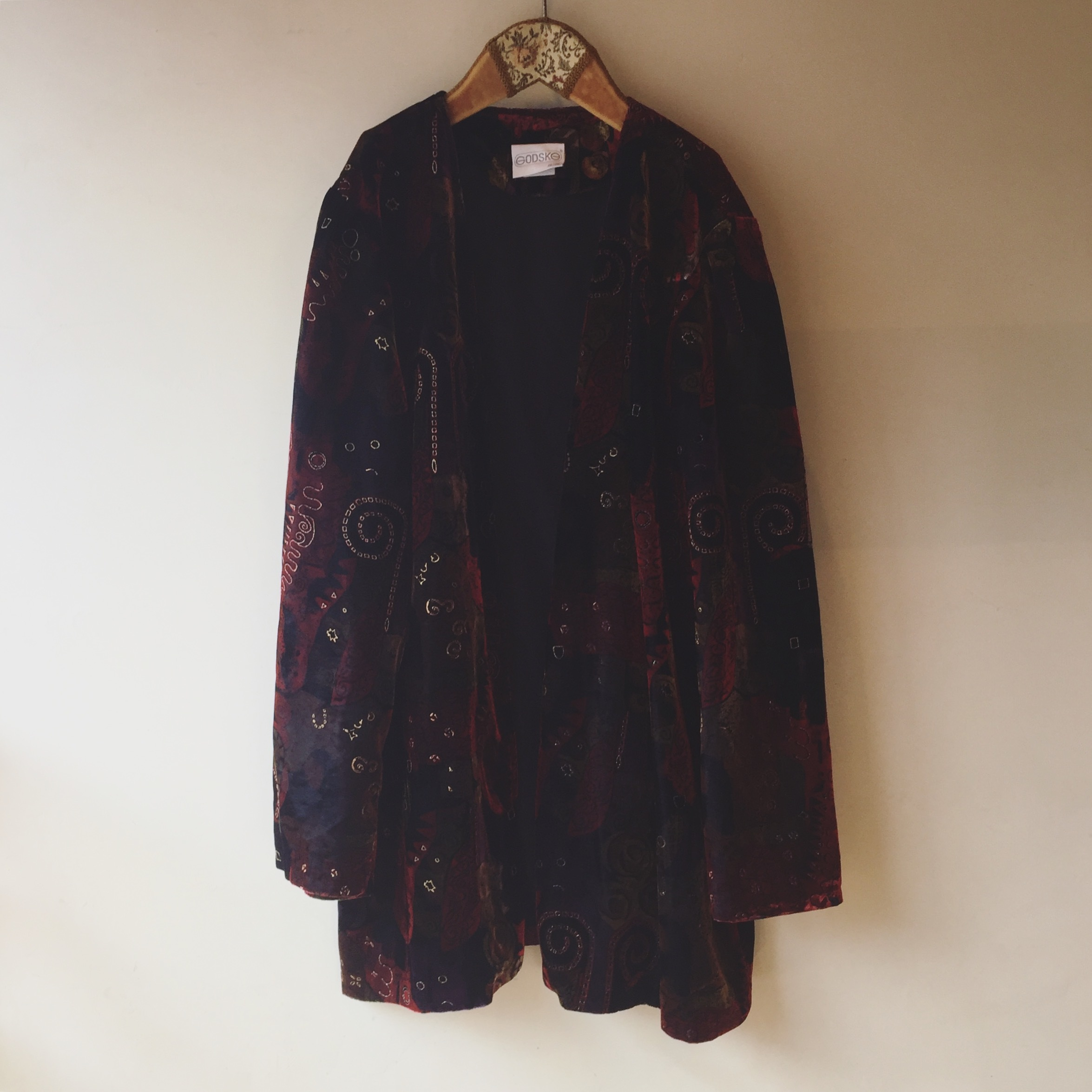 vintage design velor outer