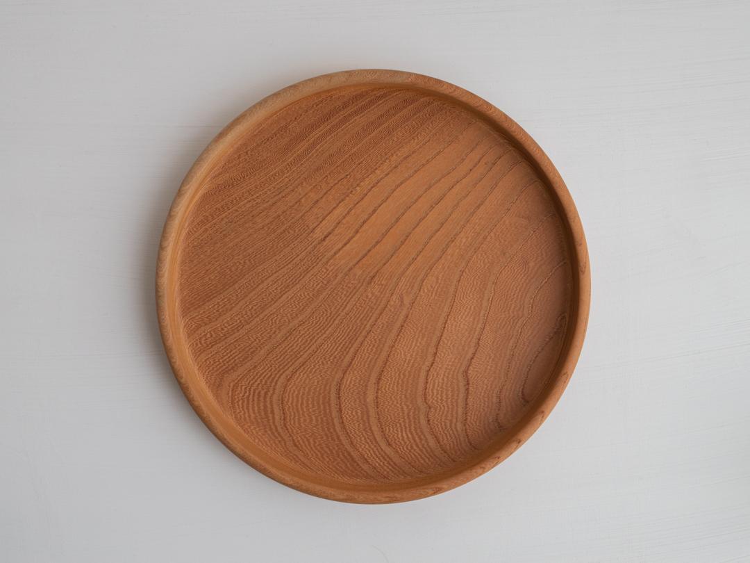 【一点限り】古民家材の欅の丸盆