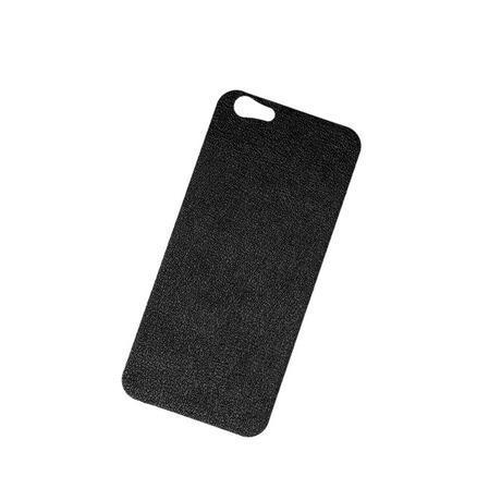 iPhone 6/6s バックプレート レザー ブラック