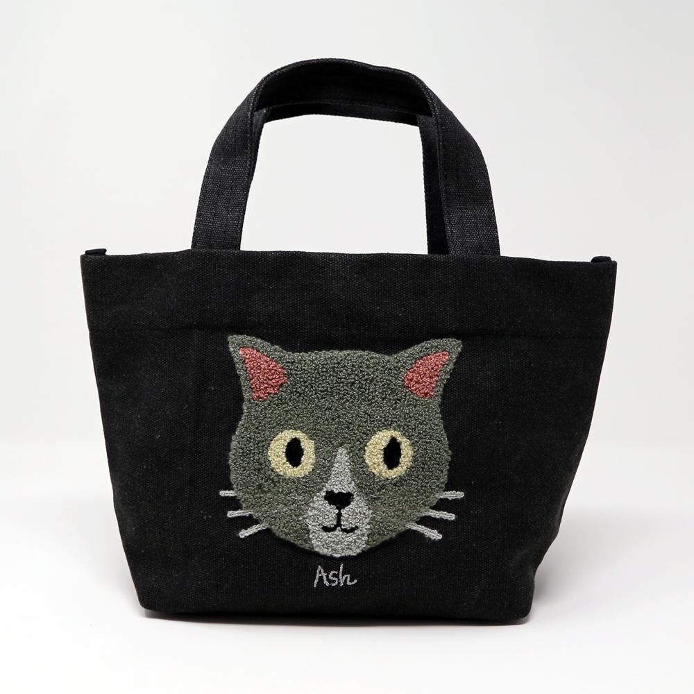 猫トートバッグ(ファミネコトート)ブラック