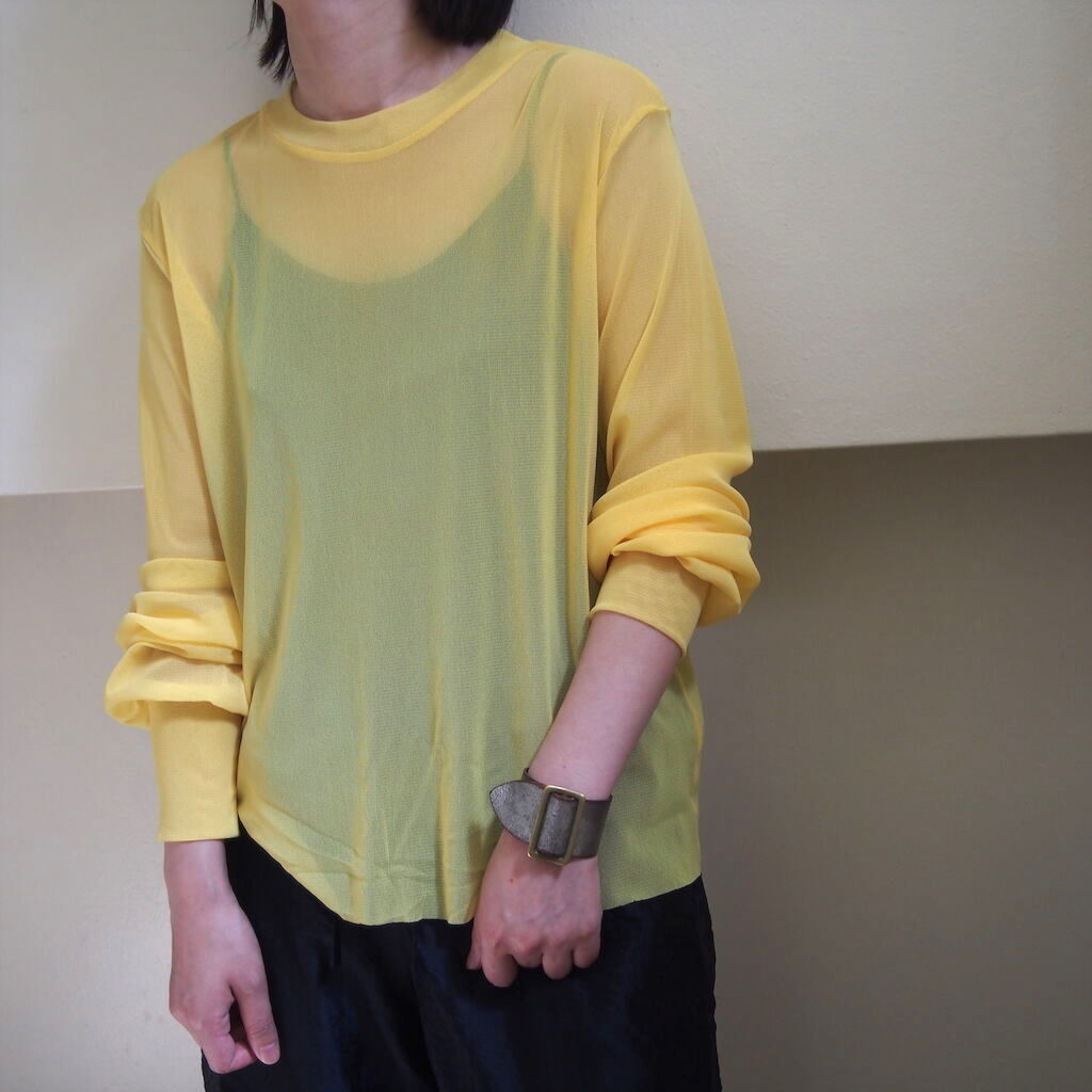 【hippiness】tulle long sleeve(yellow) /【ヒッピネス】チュール ロングスリーブ(イエロー)
