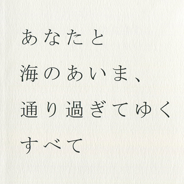 門眞妙 / 展示記録集「あなたと海のあいま、通り過ぎてゆくすべて」