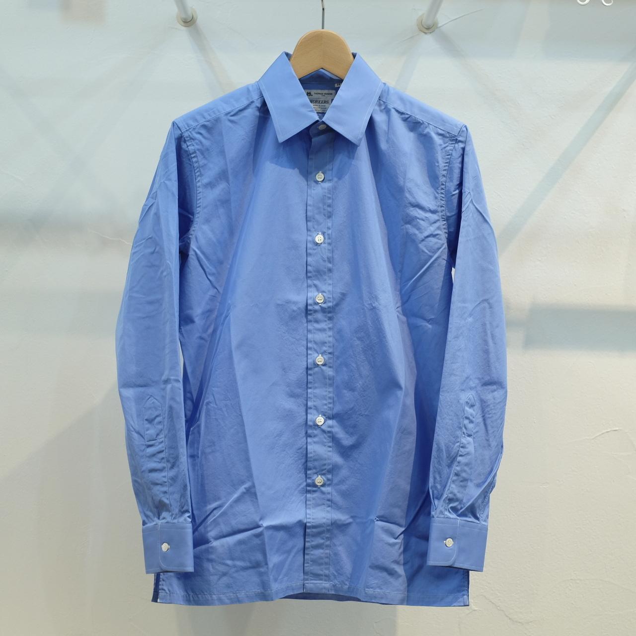 Workers(ワーカーズ) ヴァンドームシャツ トーマスメイソンブルーポプリン