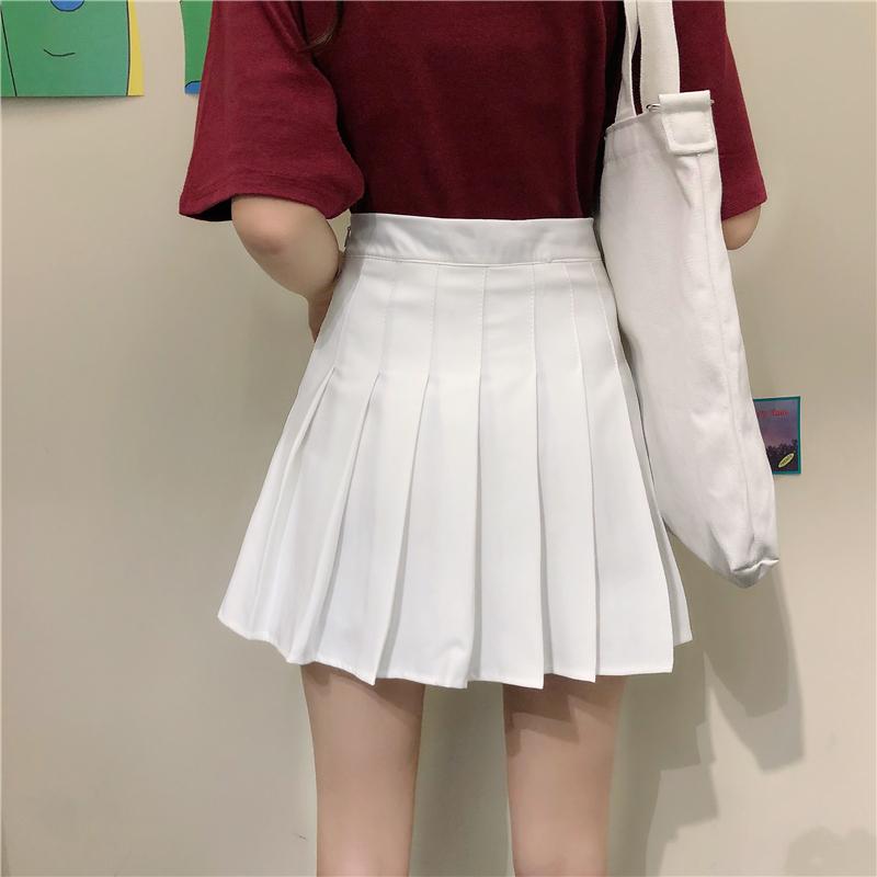 カレッジ風プリーツスカート