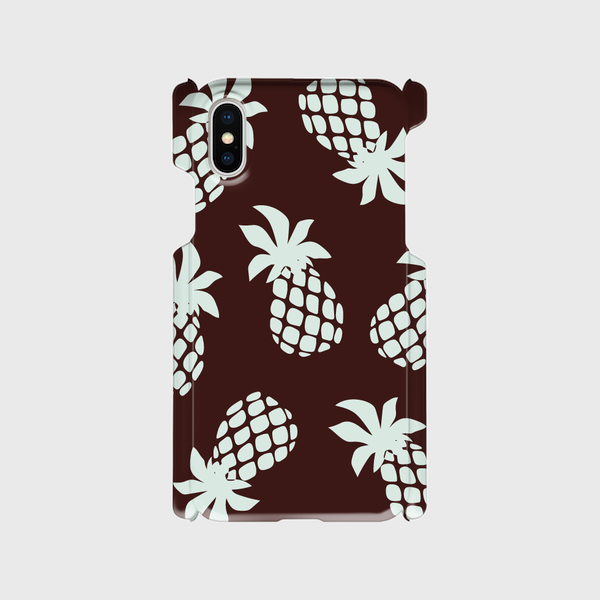 i PhoneXモバイルケース☆pineapple☆brown