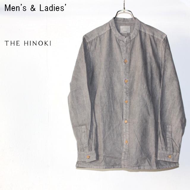 THE HINOKI スタンドアップカラーシャツ Stand Up Collar Shirts (GRAY)