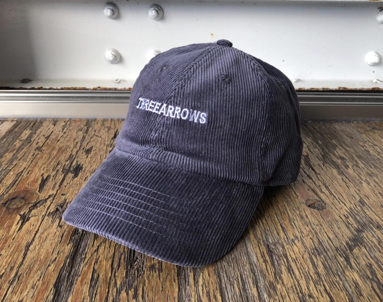 THREEARROWS刺繍コーディロイCAP(dark gray)