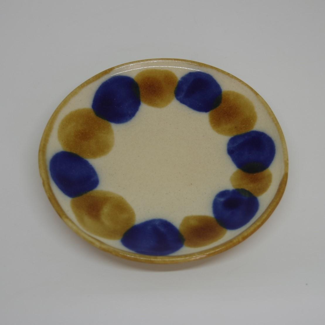 やちむん【土工房陶糸】5寸皿