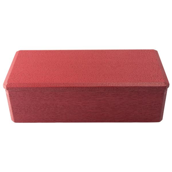 漆琳堂 長手角弁当箱 赤
