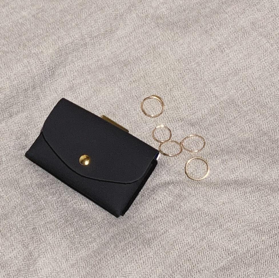 enrich everyday × com-ono Everyday TINY Wallet/NAVY × BLUE × GOLD(ネイビー × ブルー × ゴールドパーツ)