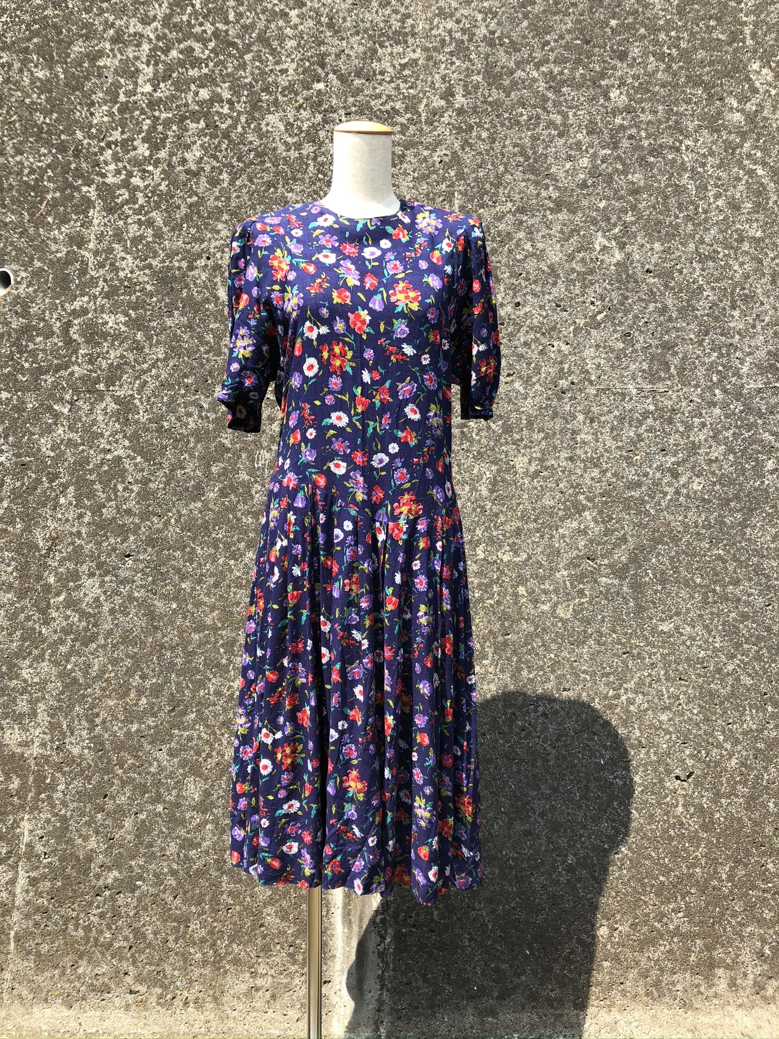 cotton flower printed dress