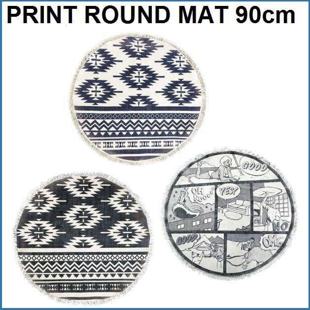 PRINT ROUND MAT 90cm