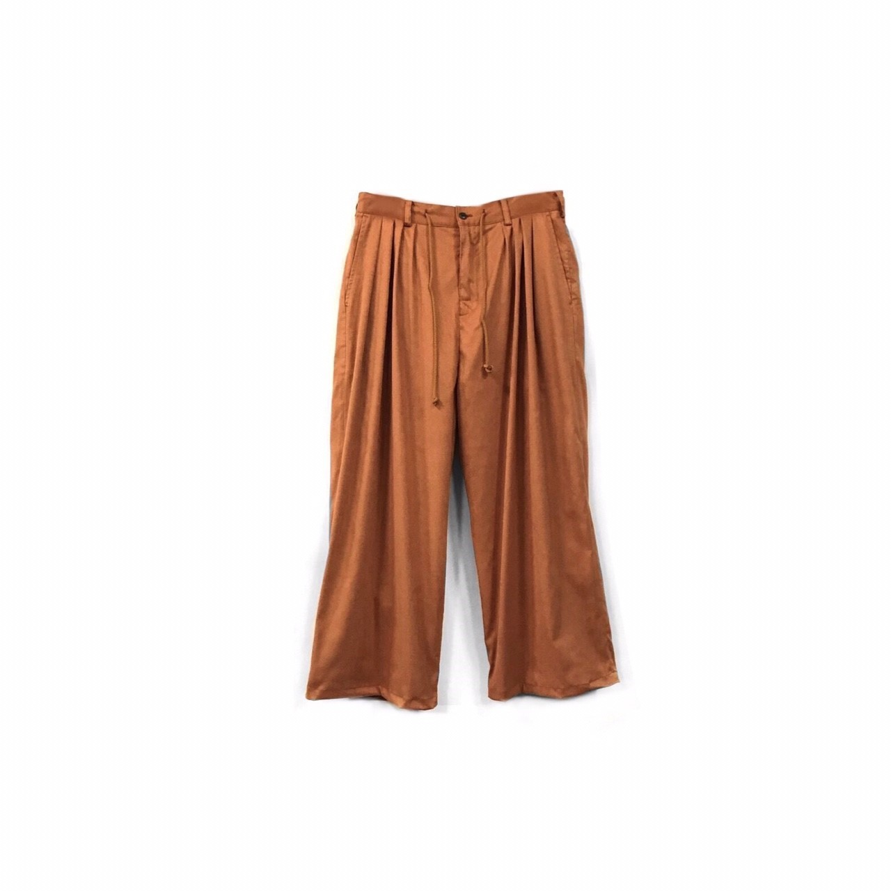 yotsuba - Fake Suede 4tuck Wide Pants / Orange ¥26000+tax