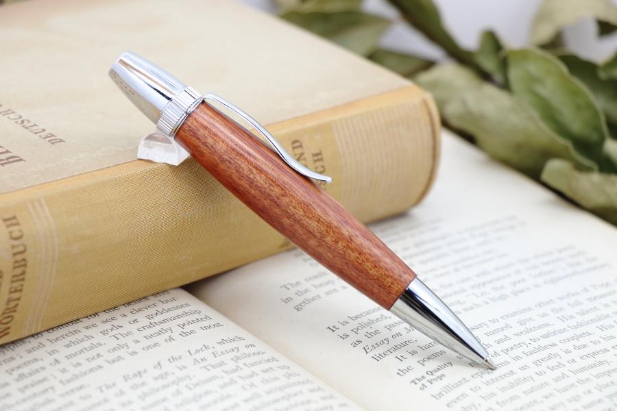 在庫あり「パーローズ/アフリカ紫檀  PTS」希少木の手作りボールペン♪ジェットストリーム対応