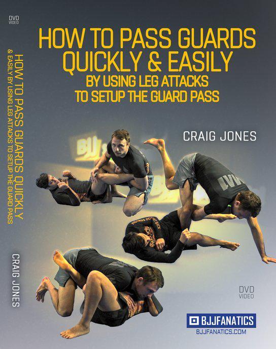 クレイグ・ジョーンズ  素早くパスガードして簡単にレッグアタックをする方法DVD2枚セット