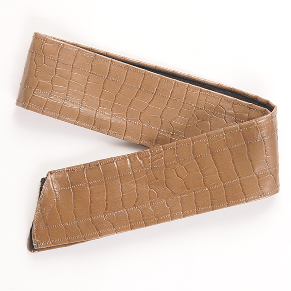 Joe17AW-25 crocodile leather wire tie (beige)