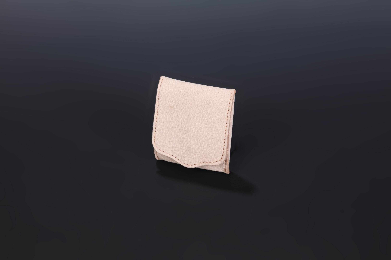 【国産イノシシ革】Designers Jewelry buff webshop限定コラボコインケース(Natural)【NOTO Leather使用】