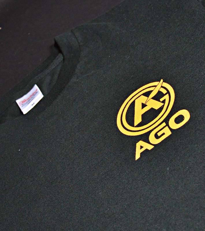 AGOロゴプリント オリジナルTシャツ black - 画像3