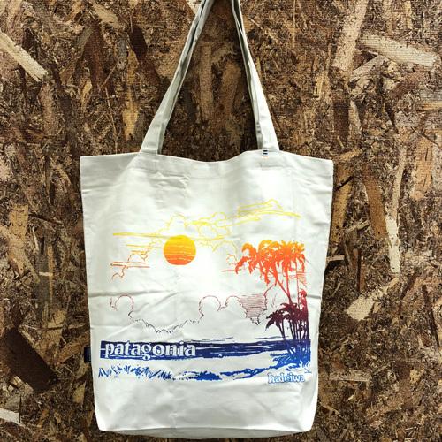 ハワイ限定 Patagonia (パタゴニア) pataloha (パタロハ) Tropical Print Tote Bag (トロピカルプリント トートバッグ) Haleiwa限定 BEIGE