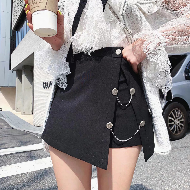 a-line chain skirt