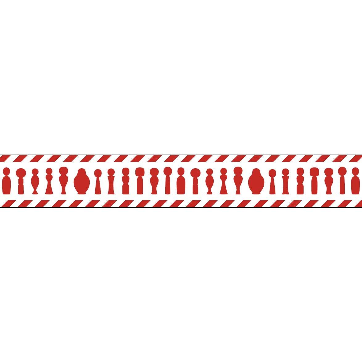 マスキングテープ(コケストライプ ロシアンレッド)
