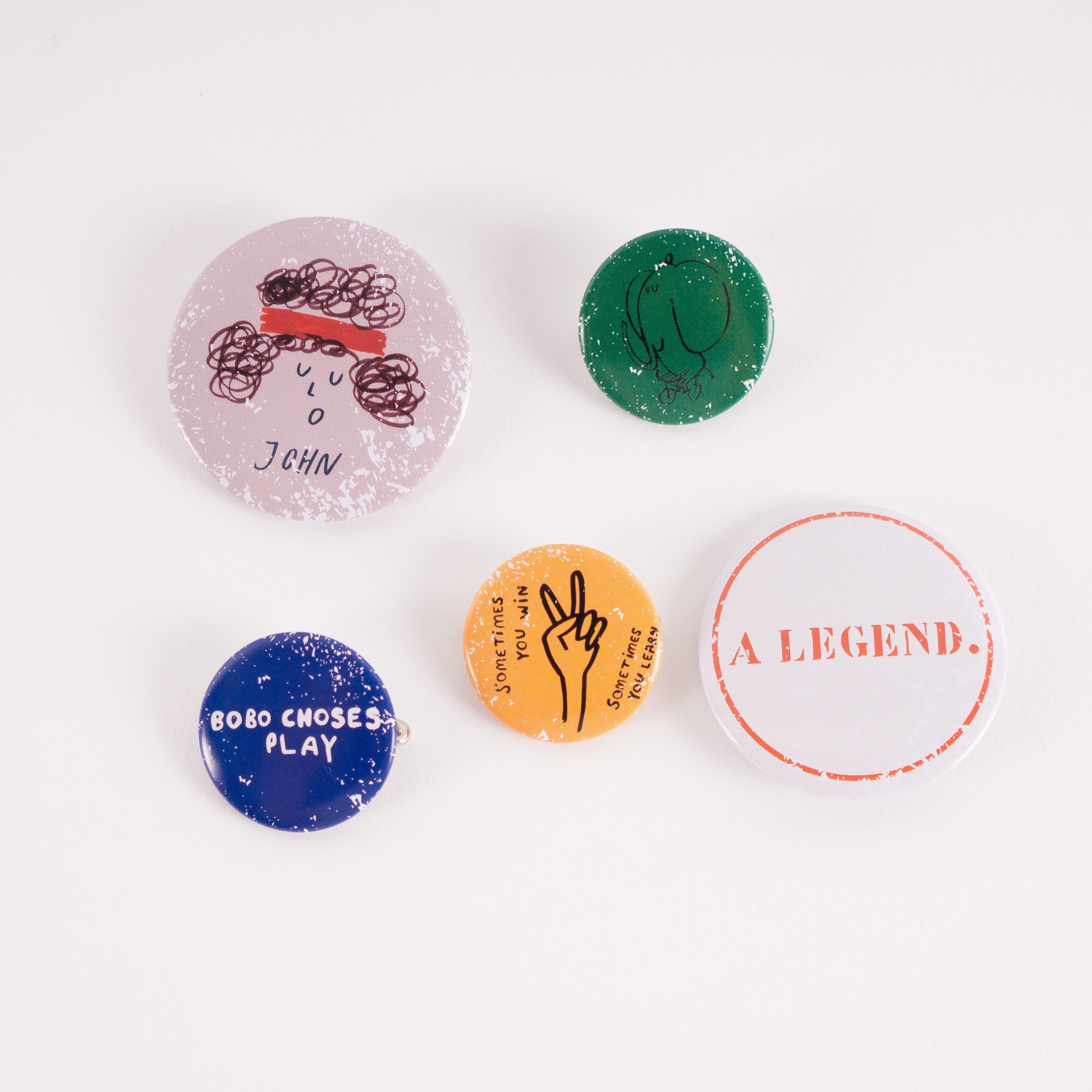 《BOBO CHOSES 2017SS》pack of 5 badges