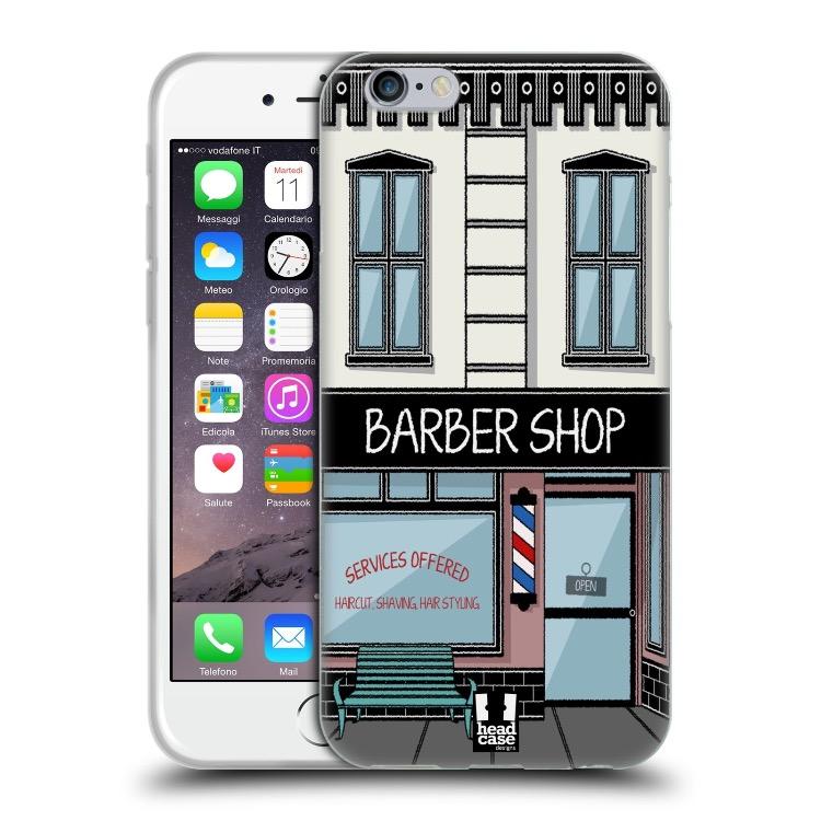 iPhone7ケース ソフト バーバーショップ ファサードデザイン