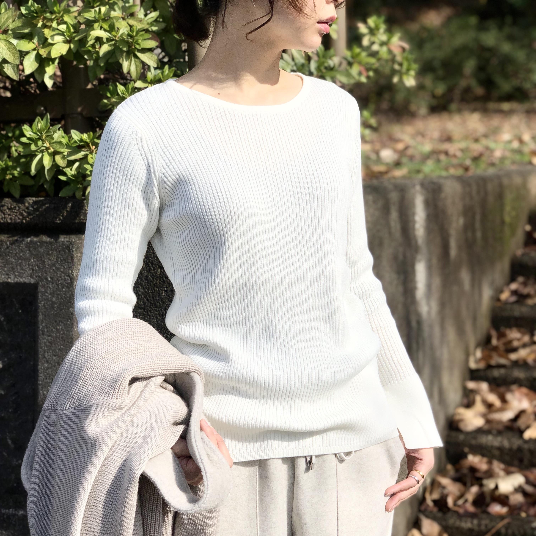 【 ANNA KERRY 】- 67203808 - スリットリブニット