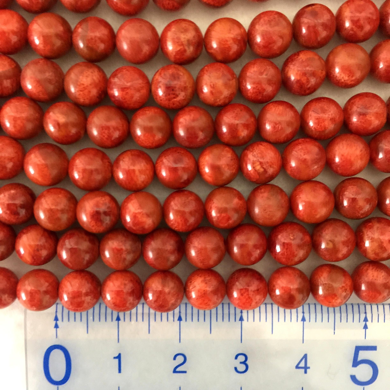 スポンジサンゴ 約6.5~7mm 中間色~濃 連材【190014B】