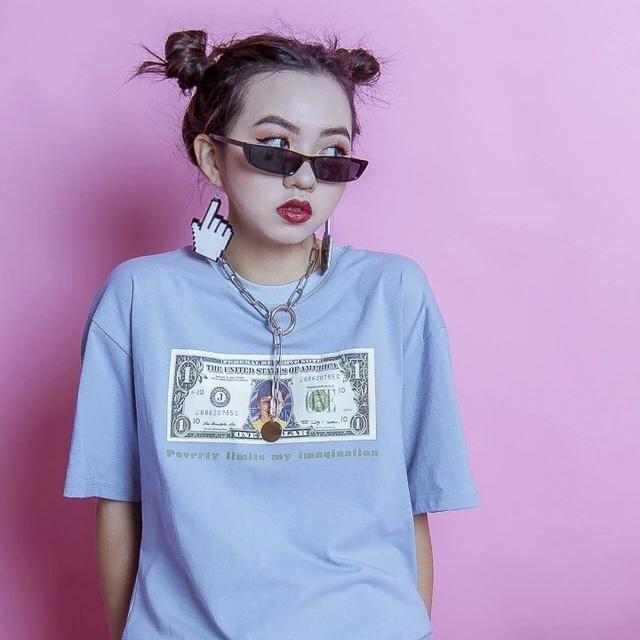 Dollar bill プリント Tシャツ