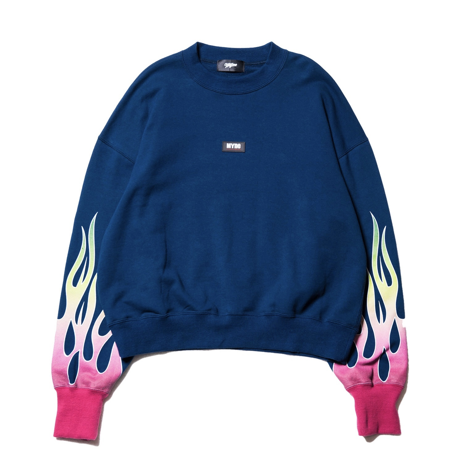 Fire sweat pullover / NAVY - 画像1