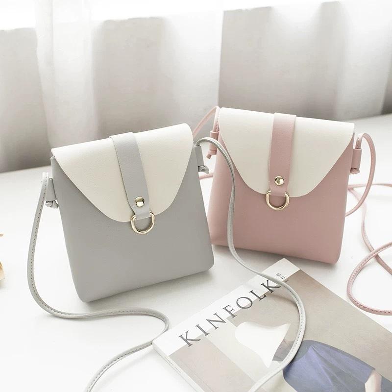pastel ring square bag