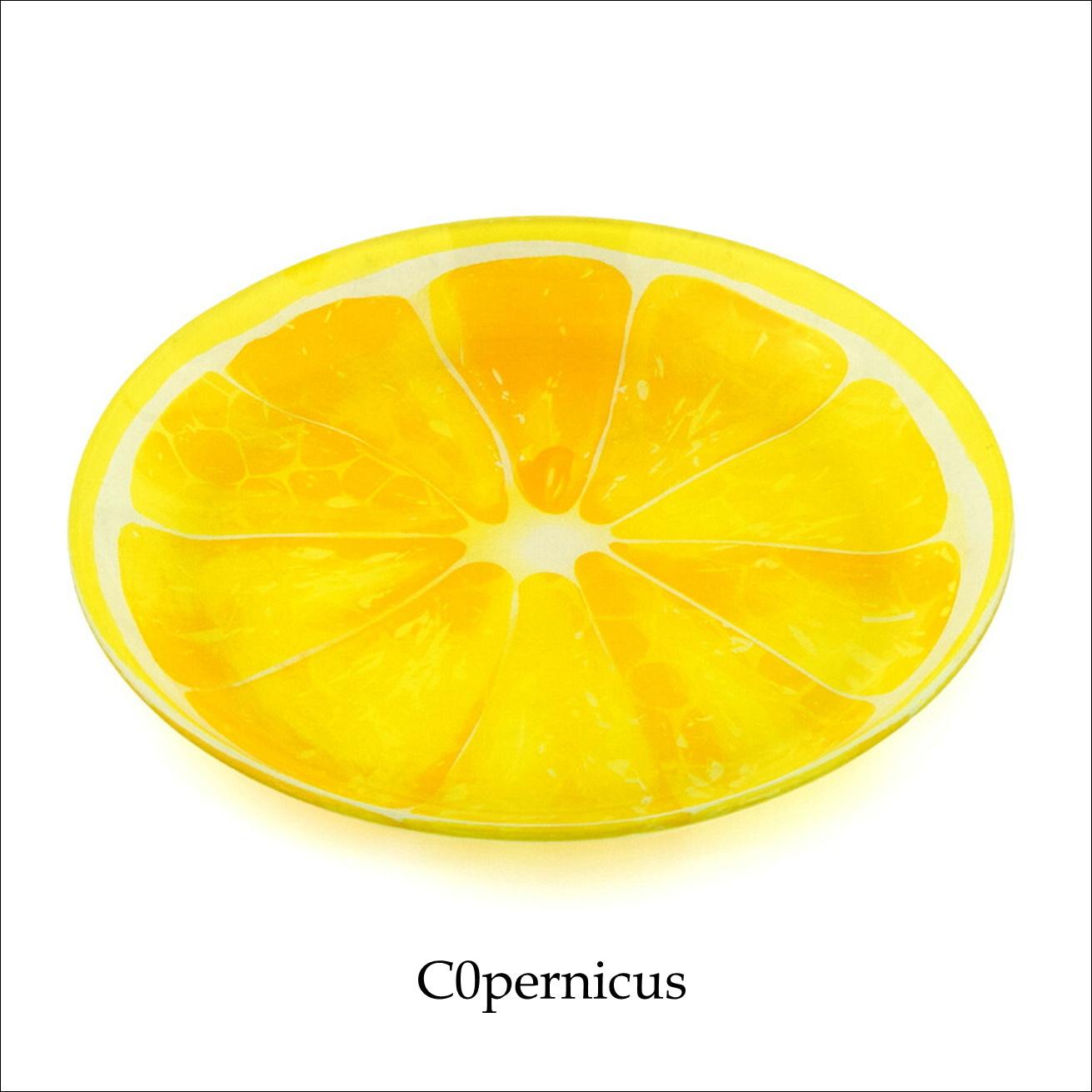 【レモン】ガラスプレート フルーツ/浜松雑貨屋 C0pernicus