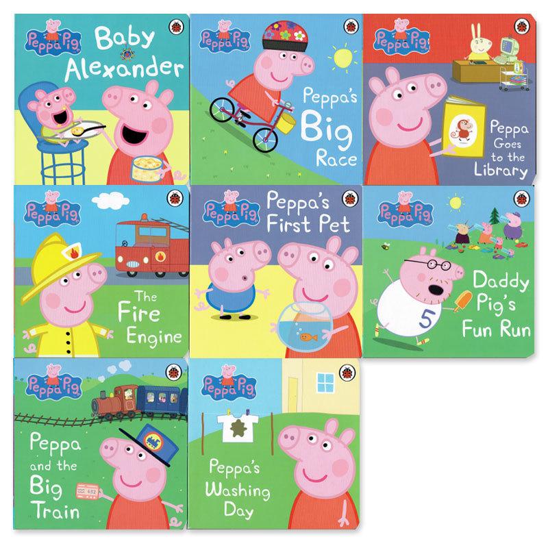 「ペッパピッグ(Peppa Pig)」ボードブック8冊セット