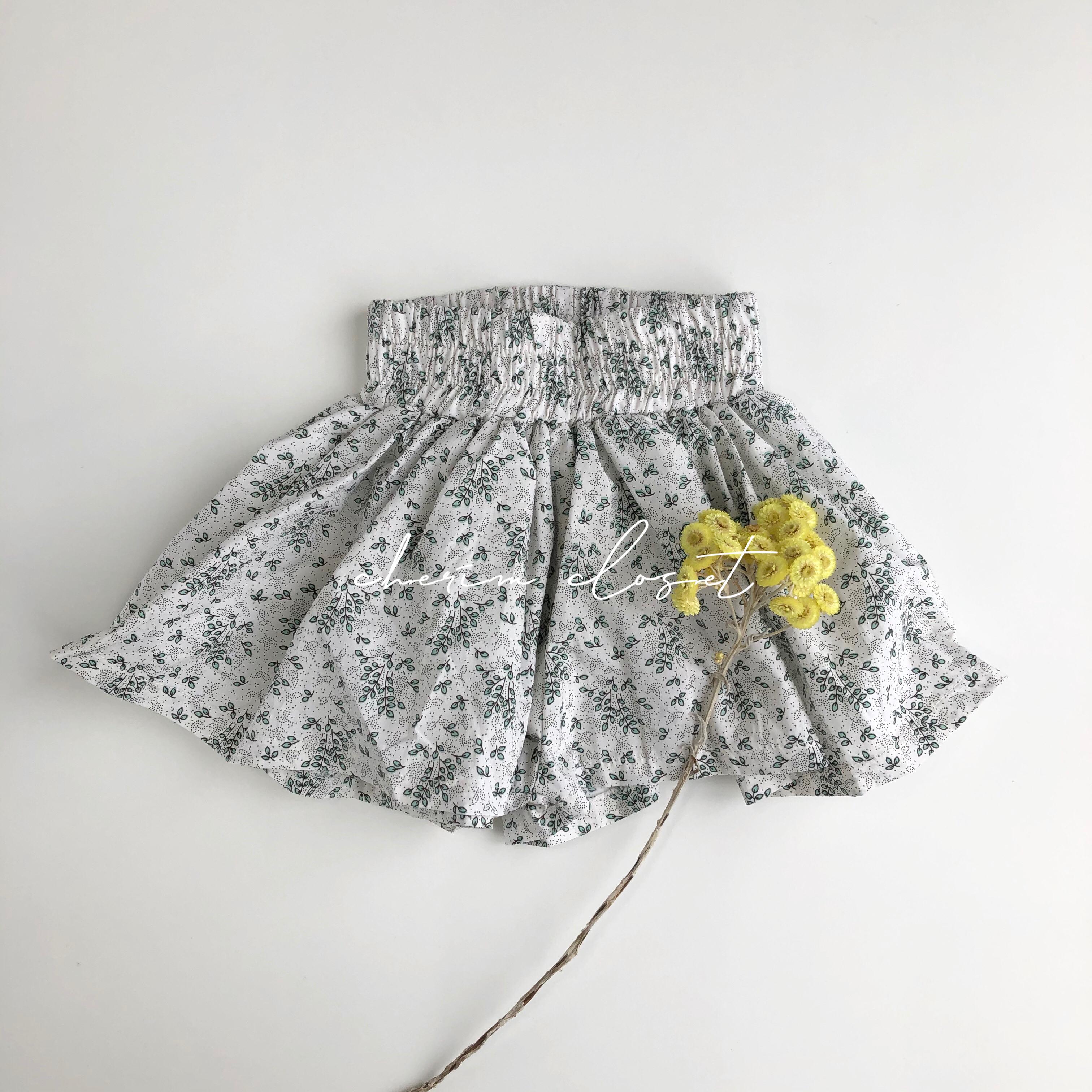 NO.669 botanical skirt pants