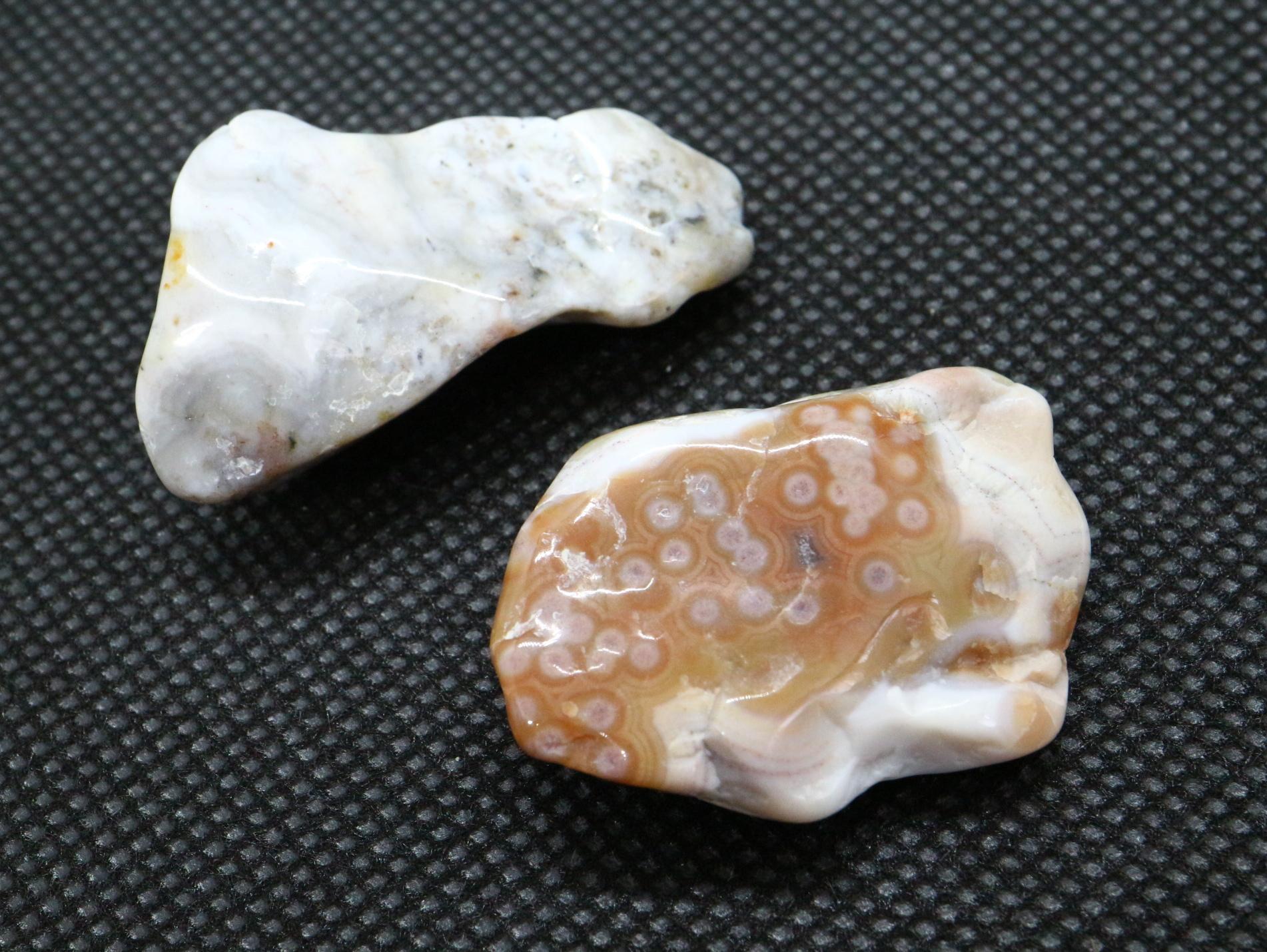 2ヶセット!オーシャンジャスパー 研磨 マダガスカル産 19,9g OJ055 原石 鉱物 天然石 パワーストーン