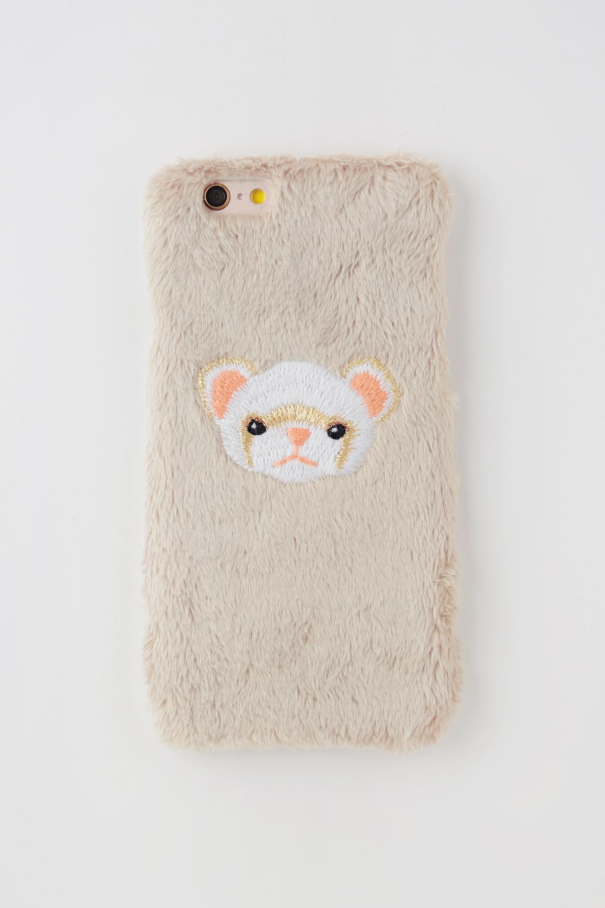 【iPhone7,8専用】フェレットiPhoneハードケース【シナモン】