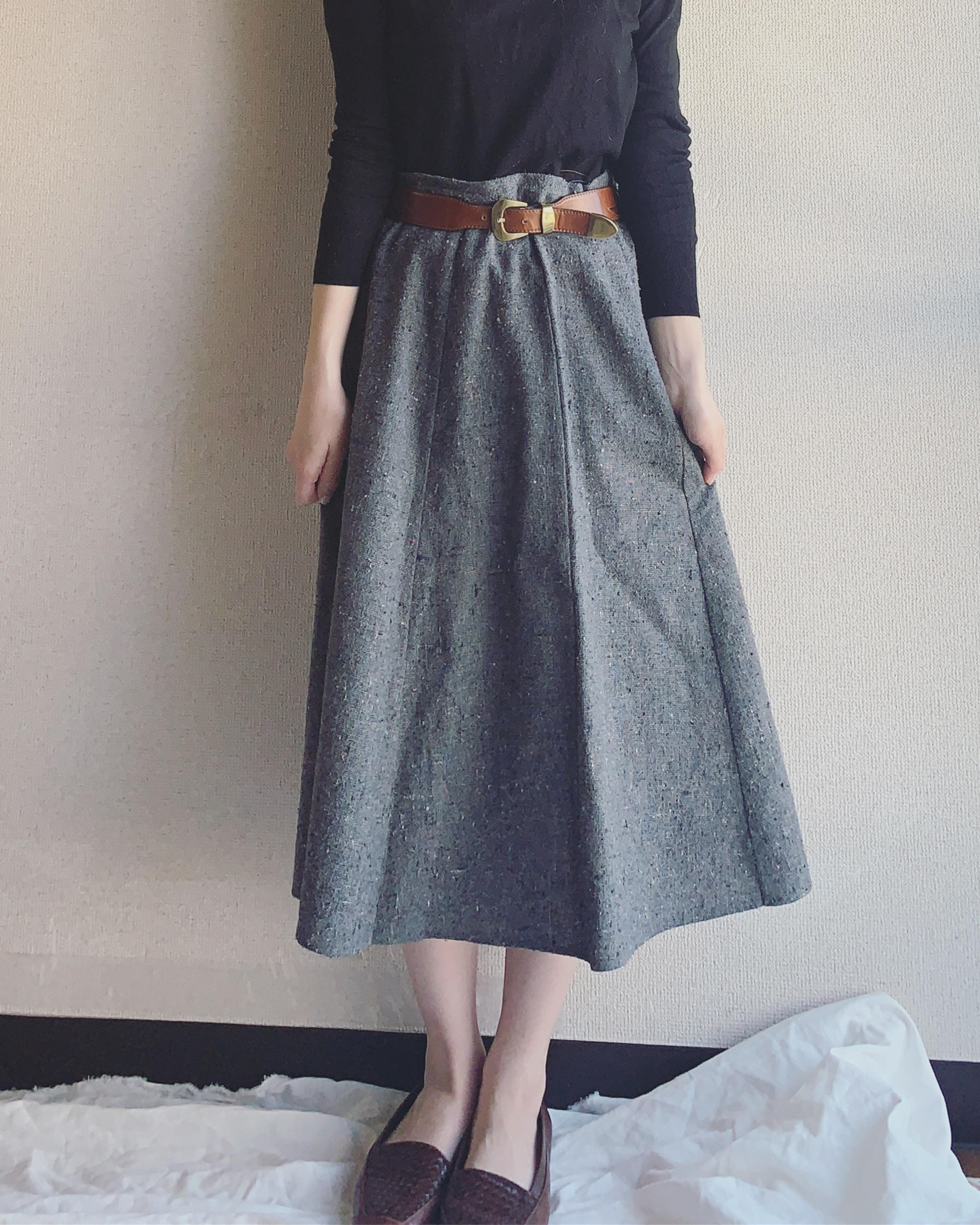【SALE】vintage marble design skirt