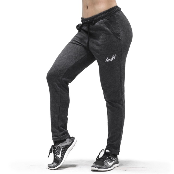 LIVE FIT Women's Relaxed Joggers-Charcoal