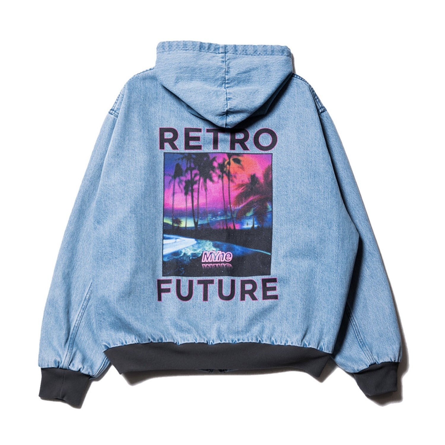 RETRO FUTURE denim parka / INDIGO - 画像2