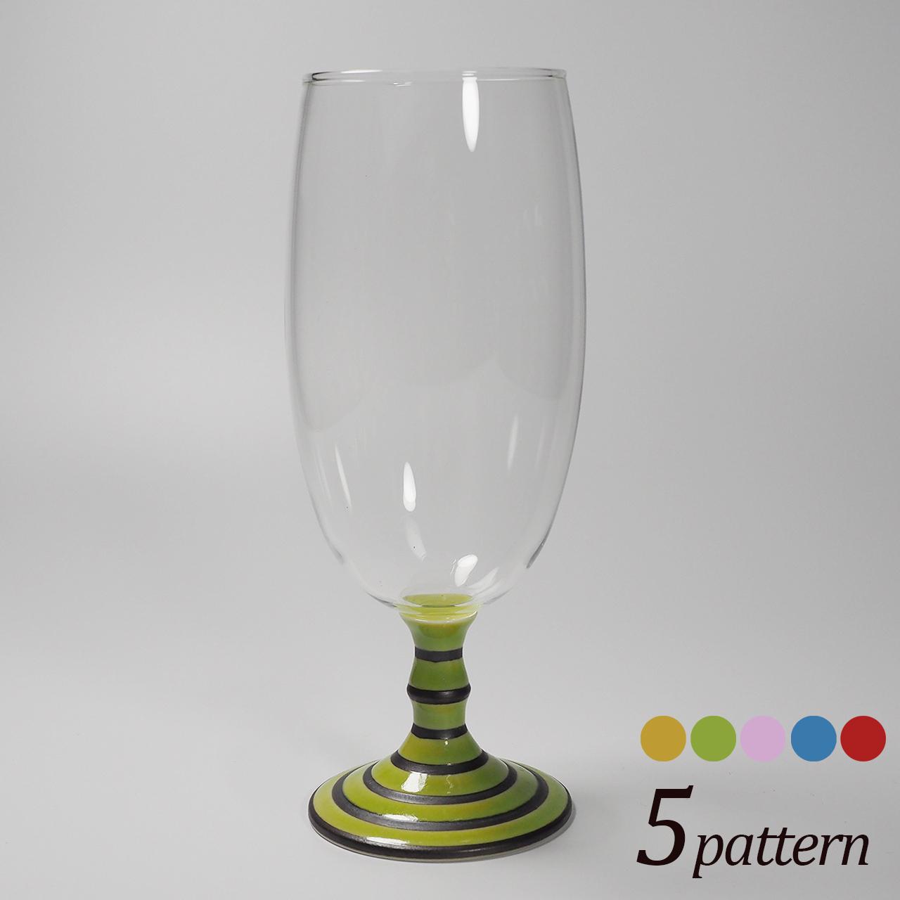 ビールグラス (ボーダー) 20-410