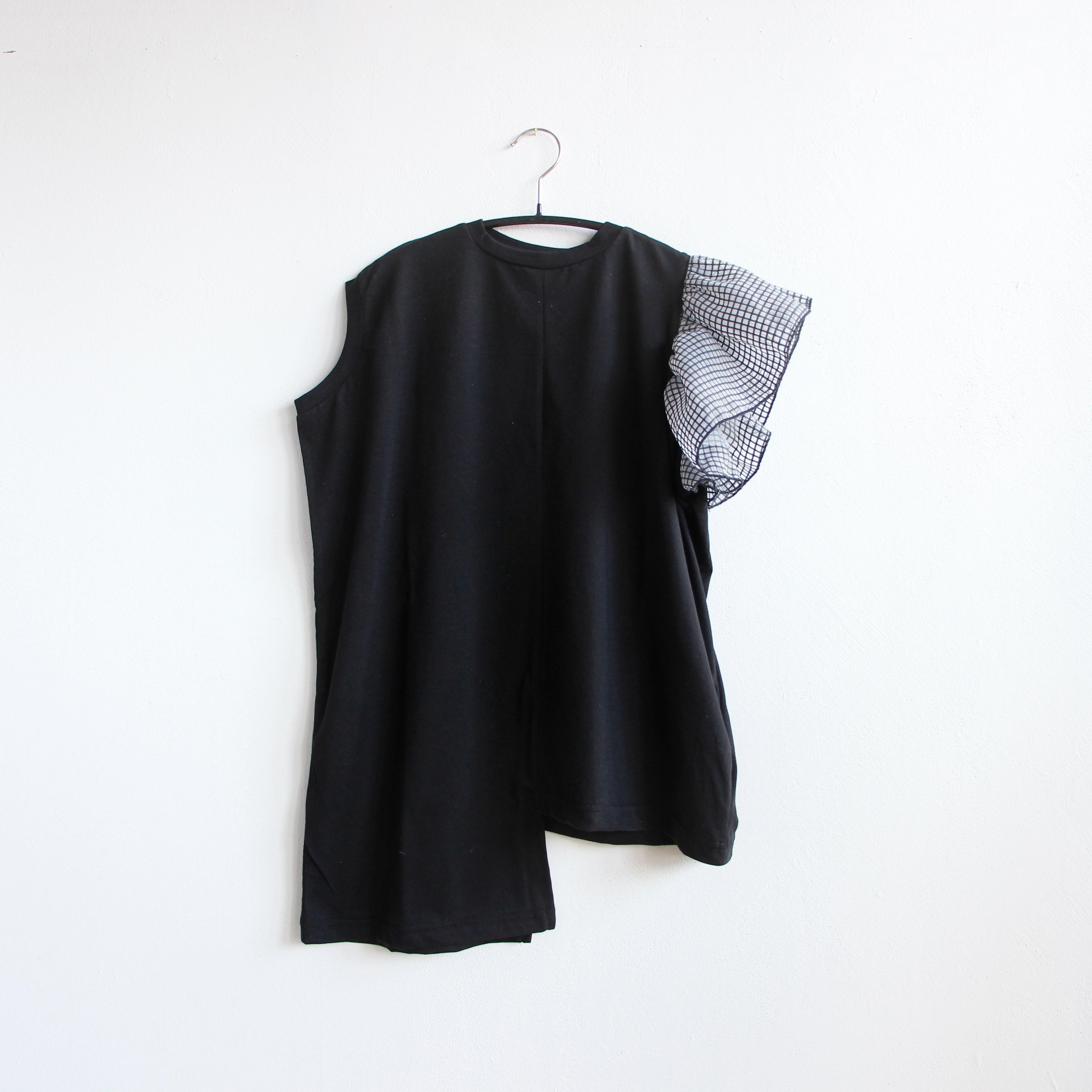 《michirico 2020SS》Asymmetry OP / black / L・XL・XXL