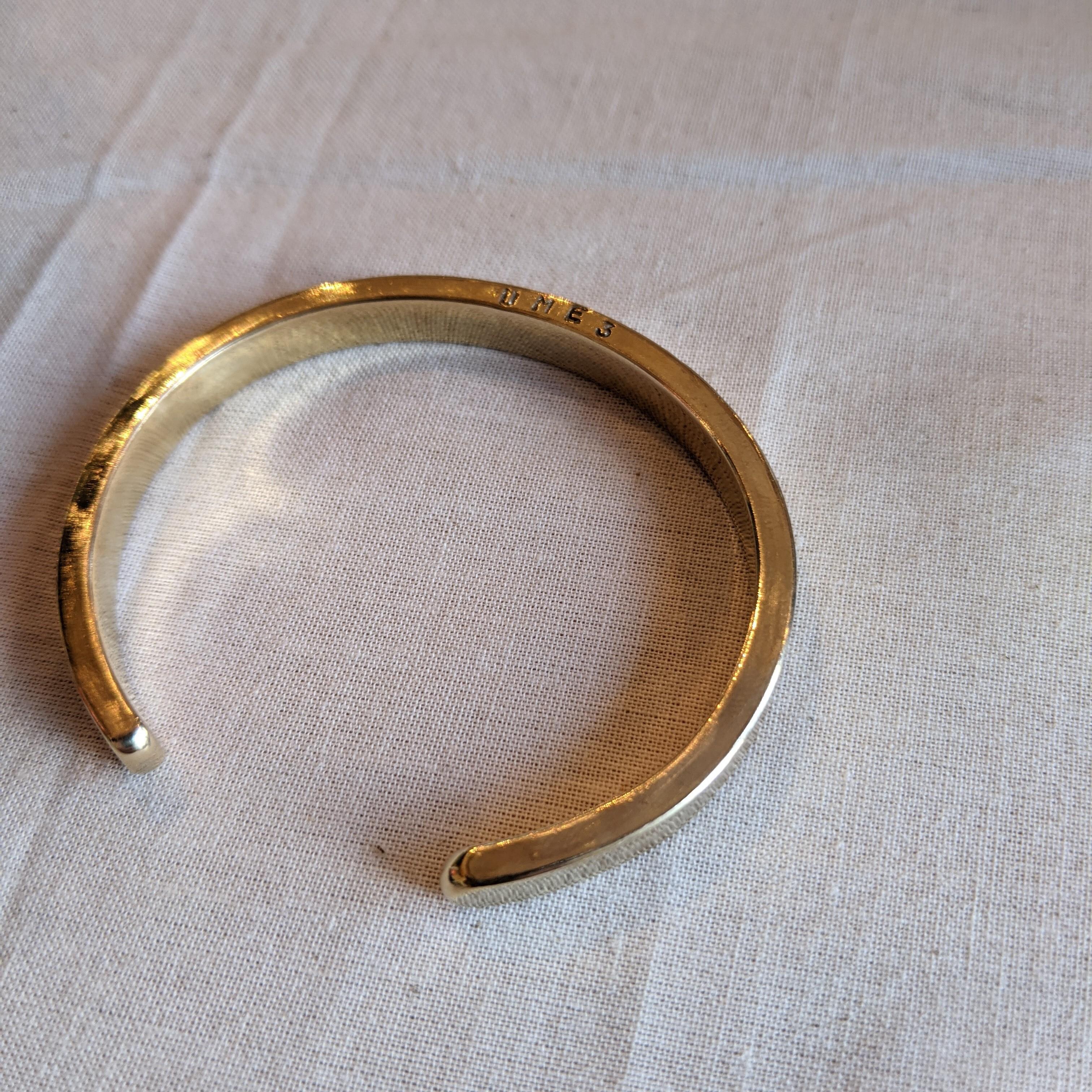 - ume 3rd anniversary special edition -【 jomathwich 】brass bangle / B-10 真鍮バングル / ume刻印