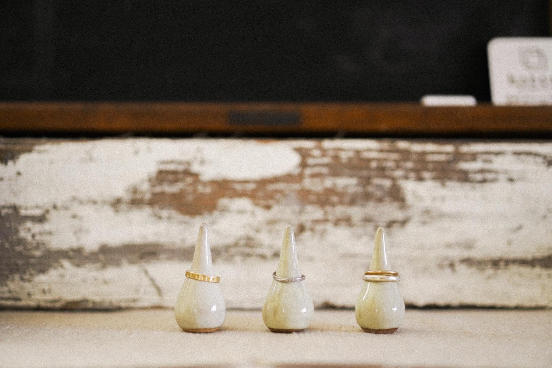 【規格外商品セール】陶器のリングホルダーS 3個セット
