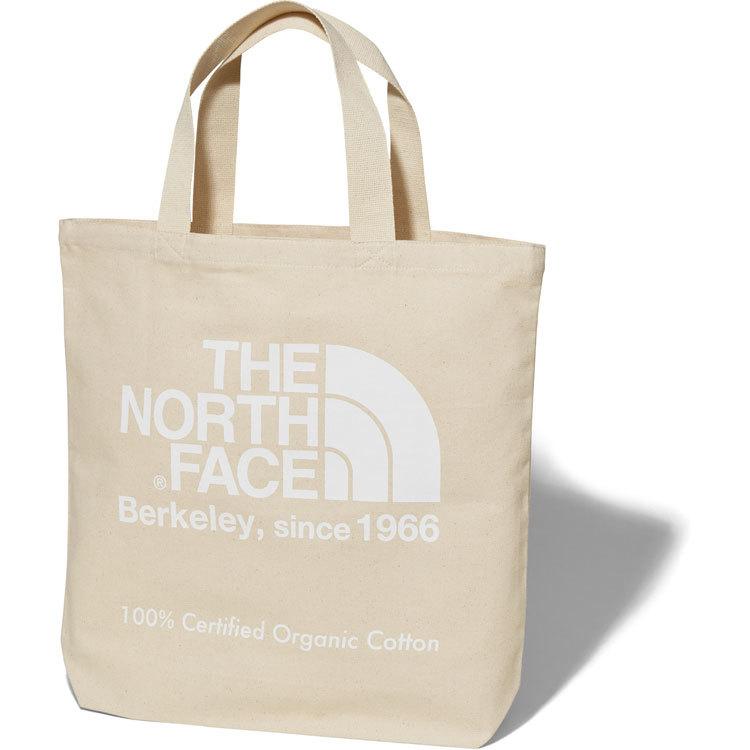 THE NORTH FACE (ザノースフェイス) TNFオーガニックコットントート (W)ナチュラル×ホワイト NM81908
