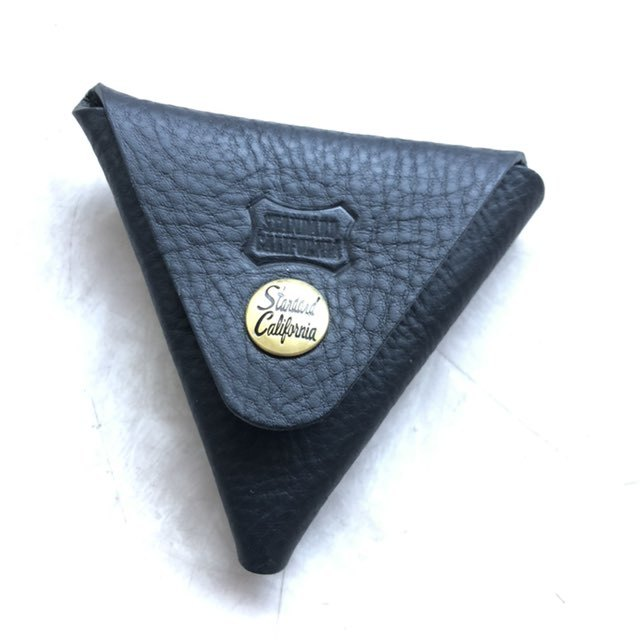 Button Works × SD Leather Triangle Coin Case ボタンワークス×スタンダードカリフォルニア別注レザーコインケース