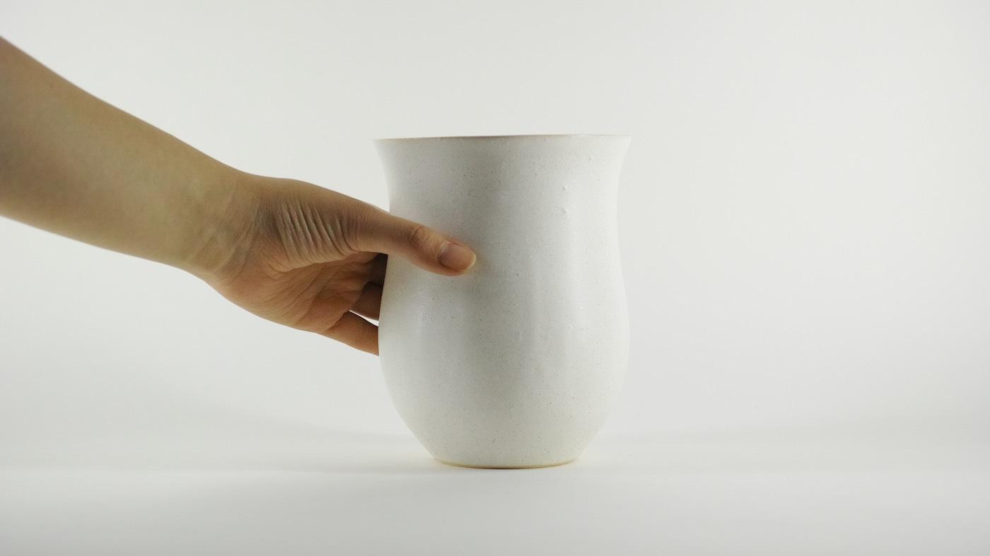 HAKUHA studio・005wt/LL-size -植木鉢-
