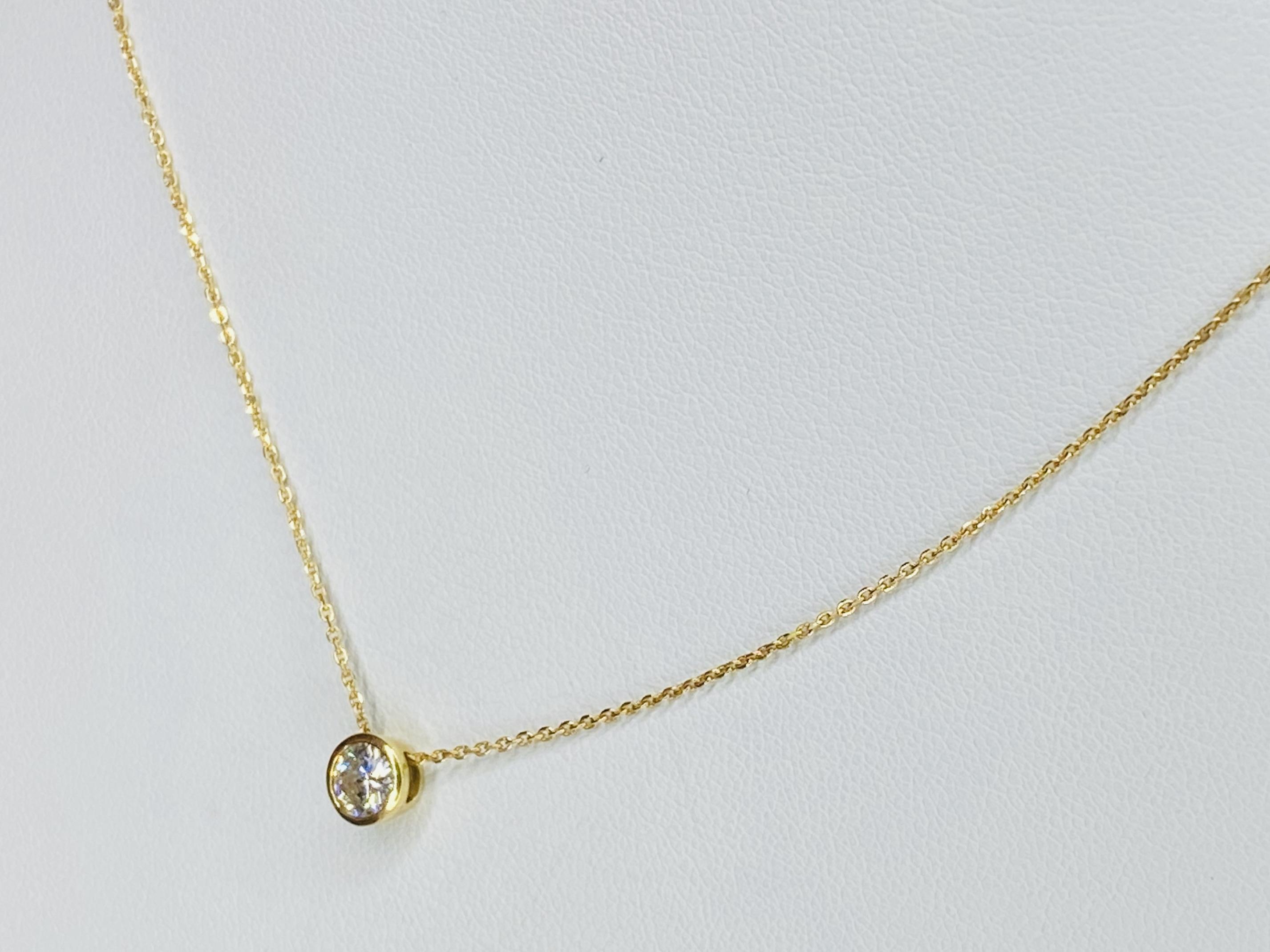 K18  0.458ct ダイヤモンドネックレス ○